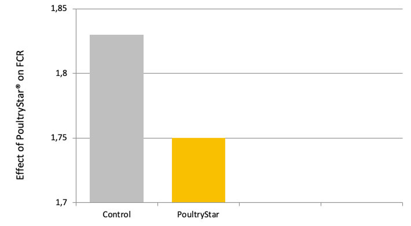 Effect of PoultryStar® on FCR